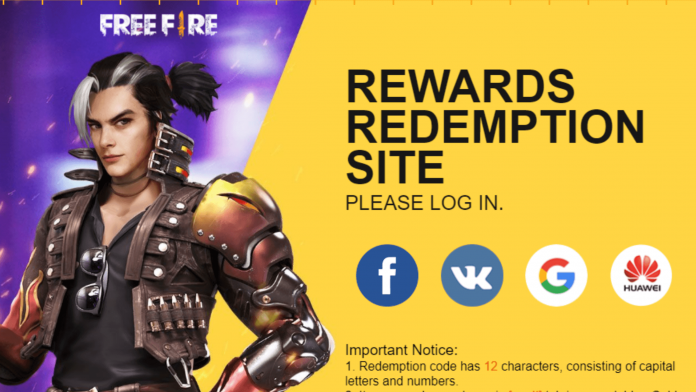 Free Fire Game Redeem Code 2020