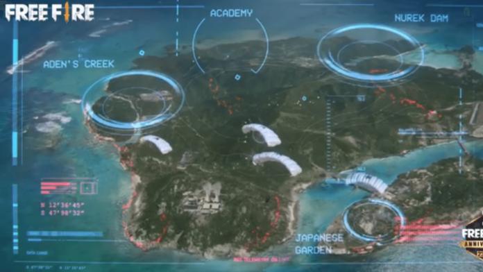 Free Fire BERMUDA REMASTERED map
