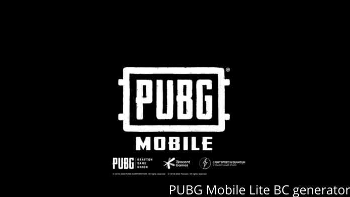 PUBG Mobile Lite BC generator