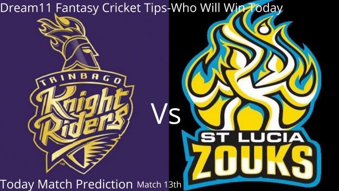 Today Match Prediction St Lucia Zouks vs Trinbago Knight Riders