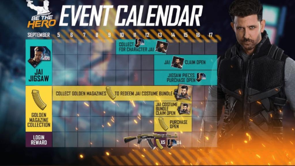 Free Fire Jai character Hero event