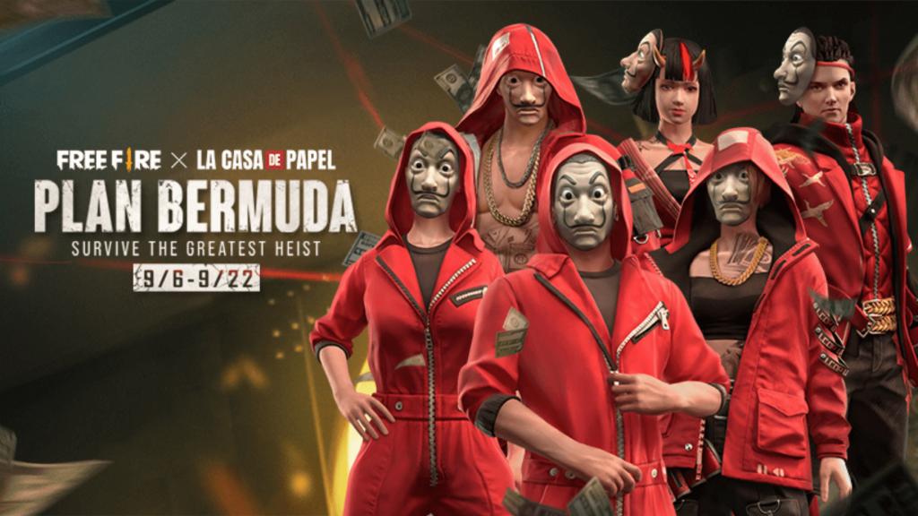 Free Fire Money Heist Plan Bermuda update