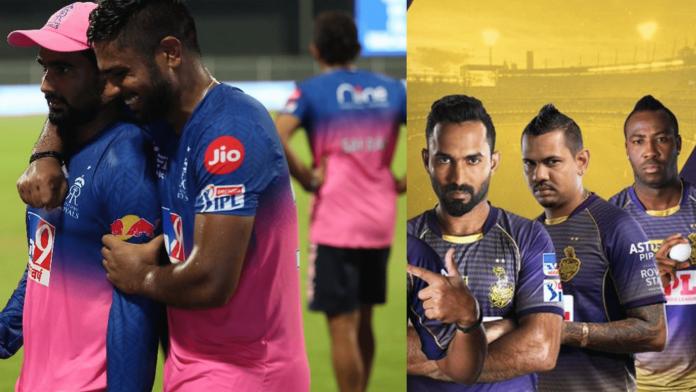 IPL 2020 Rajasthan Royals vs Kolkata Knight Riders head-to-head