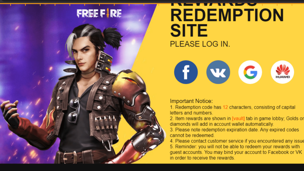 How to redeem FFIC reward codes in October