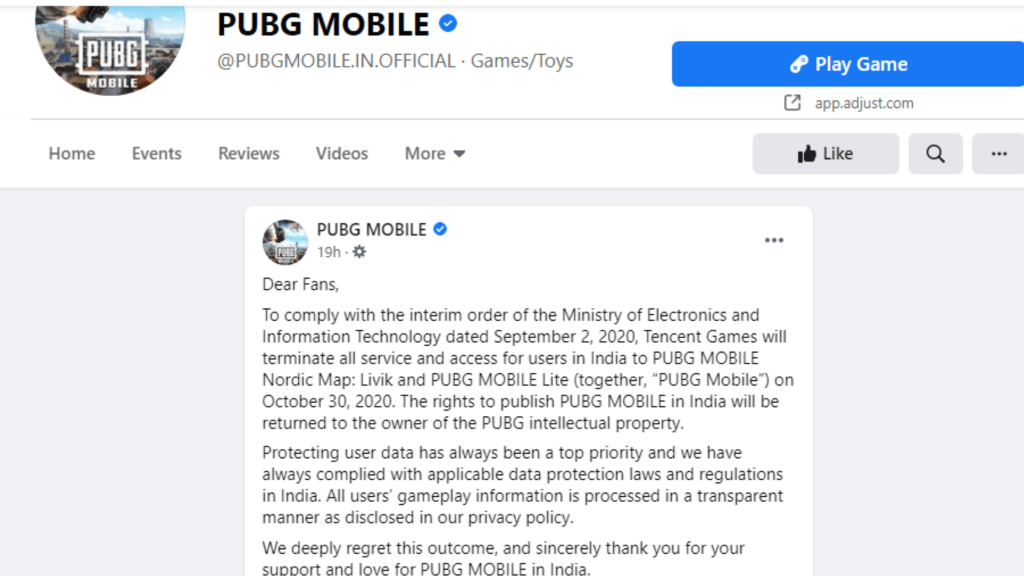 PUBG Mobile Server will shut down