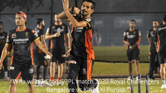 Who will win today IPL match 2020 Royal Challengers Bangalore