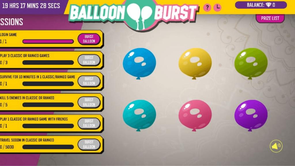 Free Fire Balloon Burst