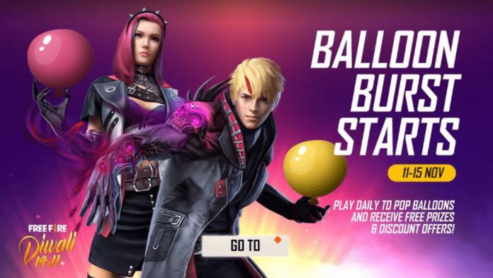 Free Fire Balloon Burst Event