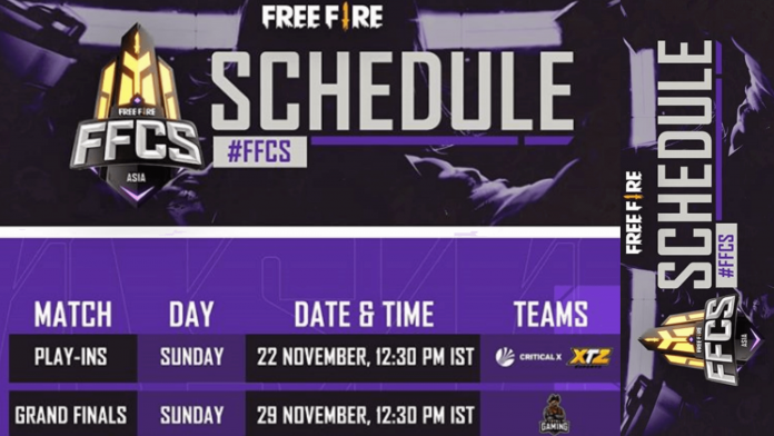 Free Fire Continental Series 2020 Asia schedule announced