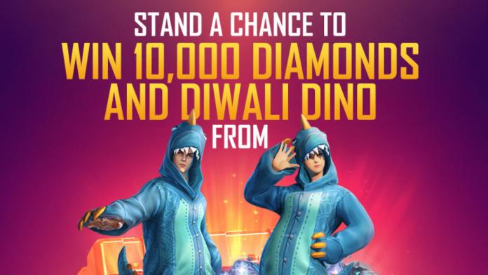 win 10000 diamonds in Free Fire Diwali Event