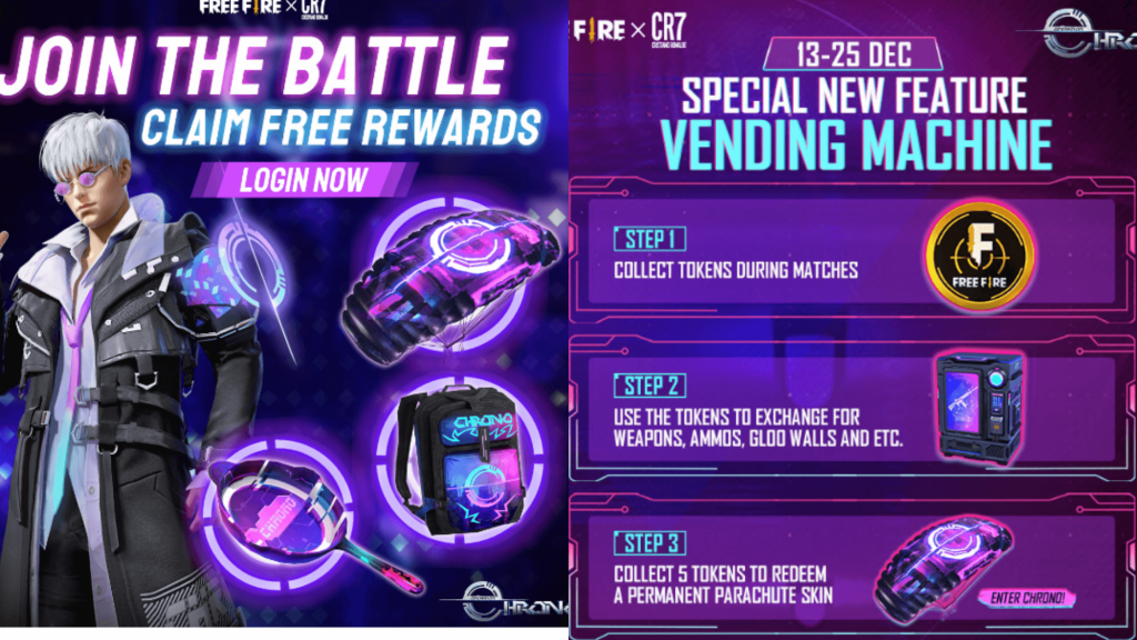 Free Fire Operation Chrono's events, missions