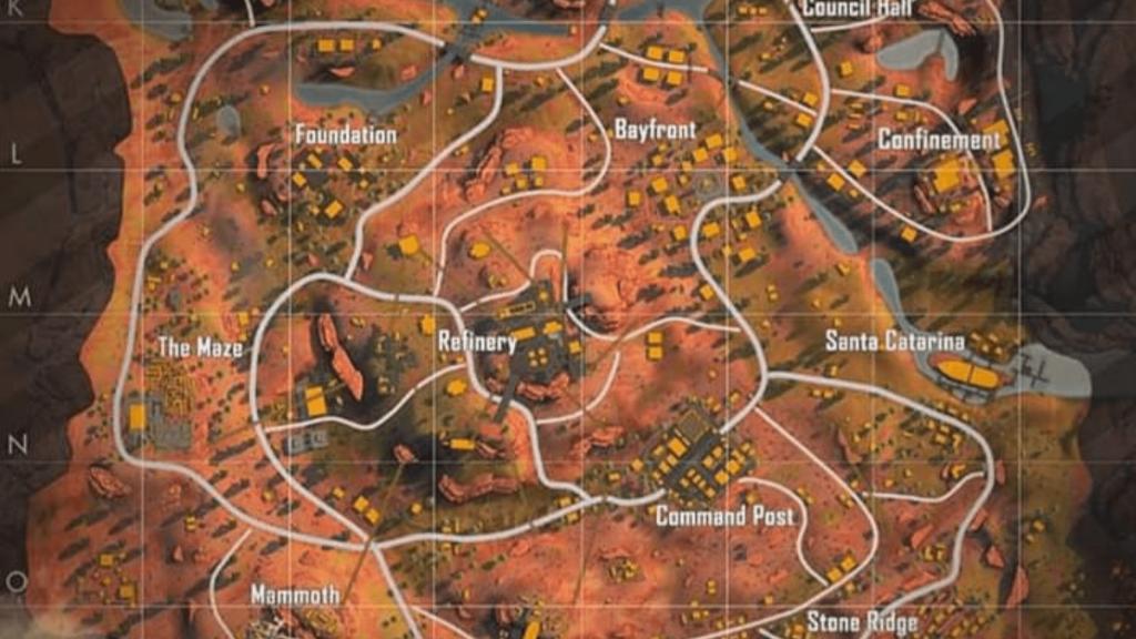Kalahari map