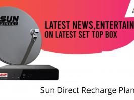 Sun Direct Recharge Plans 2021