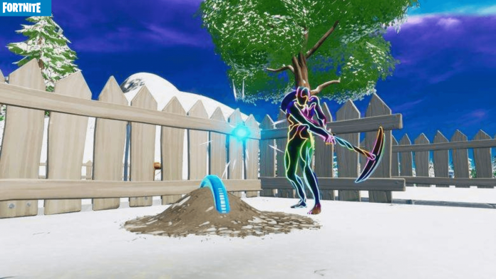 Buried Blue Coin at Fortnite