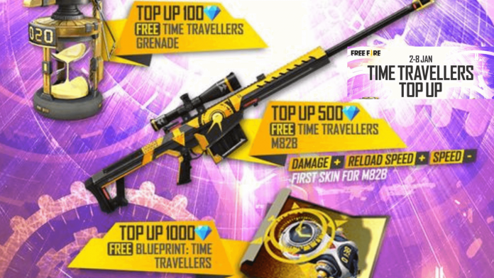 Free Fire Time Traveller Top-Up Event