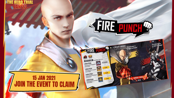 Free Rewards from Free Fire One-Punch Man Event