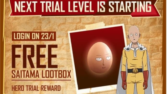 Free Saitama Loot Box in Free Fire