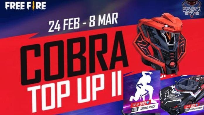 Free Fire Cobra Top Up II event