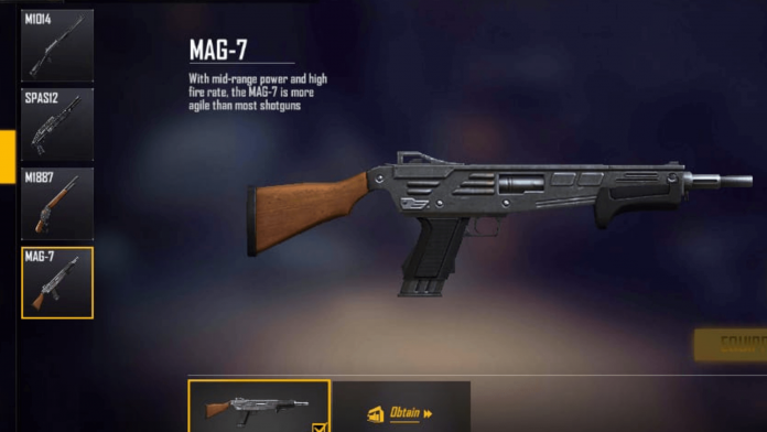 Free Fire Gun Mag-7