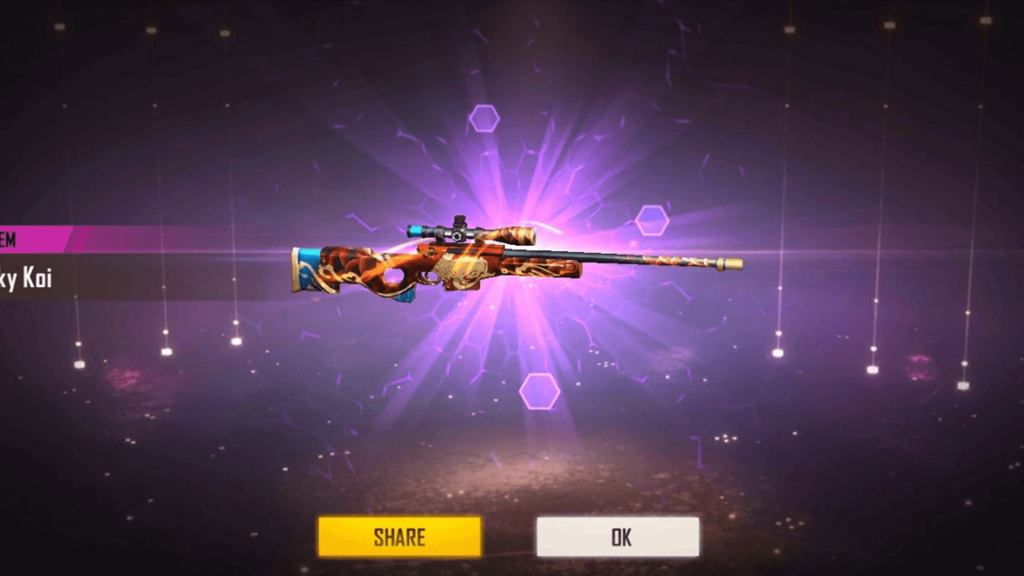 get Lucky Koi AWM skin in Free Fire