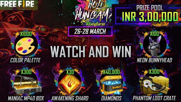 Free Fire Holi Hungama event