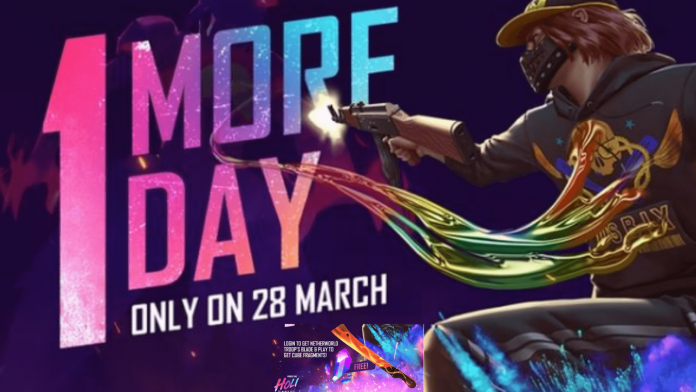 Netherworld Troop's Blade from Free Fire Holi event