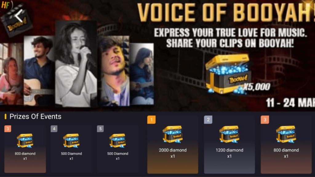 Voice of Booyah event in Free Fire