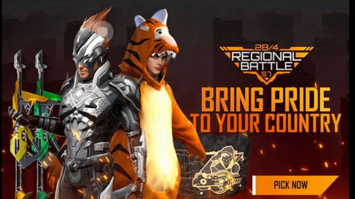 Free Fire Regional Battle Season 7 Free Rewards