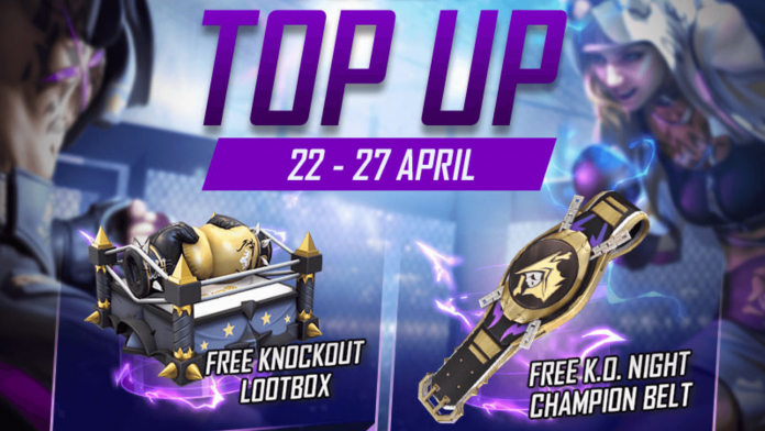 Knockout Loot box and KO Night Champion Belt in Free Fir