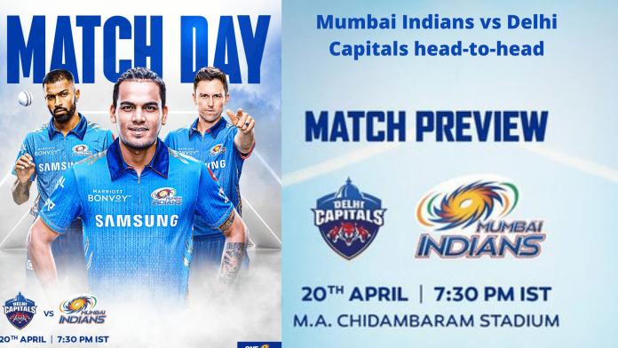 Mumbai Indians vs Delhi Capitals head-to-head