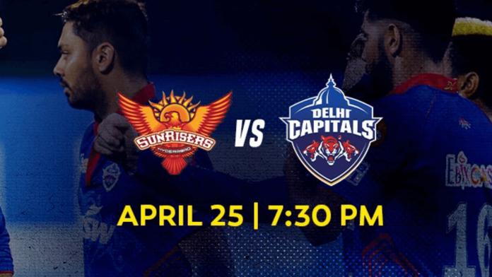 Vivo IPL 2021 match 20 SRH vs DC head to head