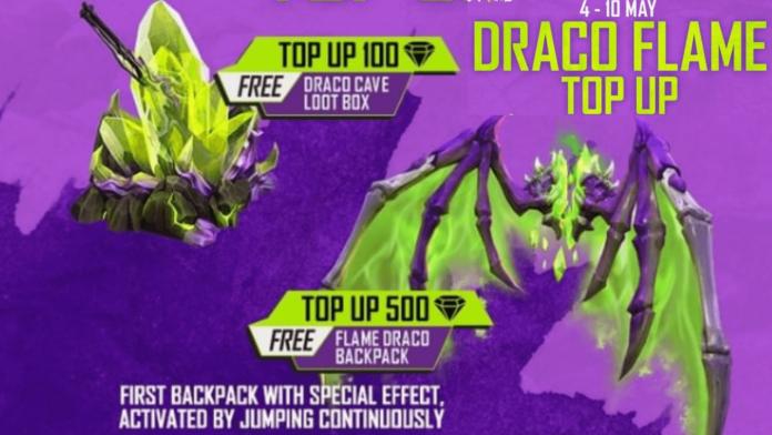 Free Flame Draco Backpack Skin in Free Fire