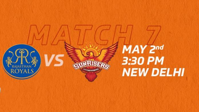IPL 2021 match 28 RR vs SRH head to head