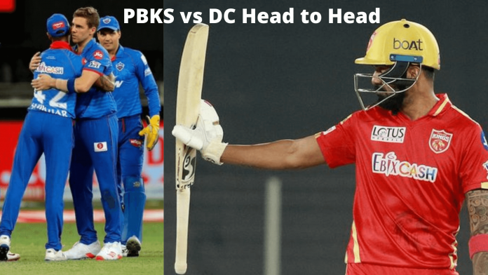 IPL 2021 match 29 PBKS vs DC head to head