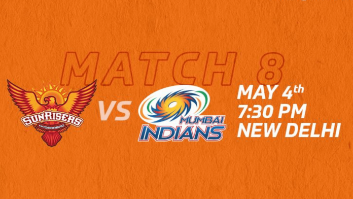 Vivo IPL 2021 match 31 MI vs SRH head to head
