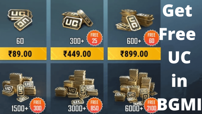 top best ways to get free UC in Battlegrounds Mobile India