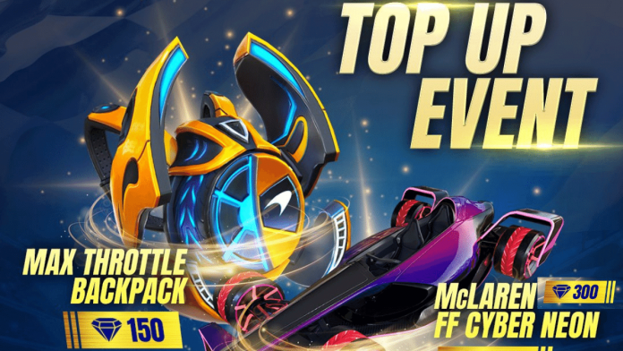 Get free Max Throttle backpack skin in Free Fire