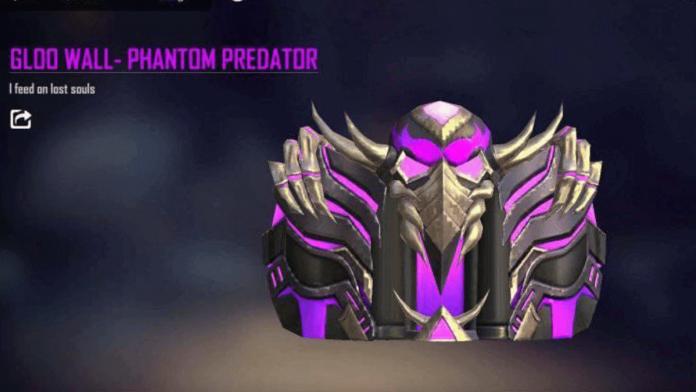 Phantom Predator Gloo Wall skin in Free Fire